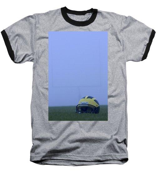 Wolverine Helmet On The Field In Heavy Fog Baseball T-Shirt