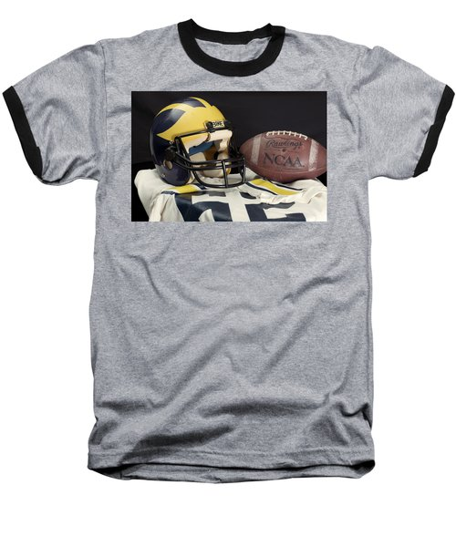 Wolverine Helmet With Jersey And Football Baseball T-Shirt