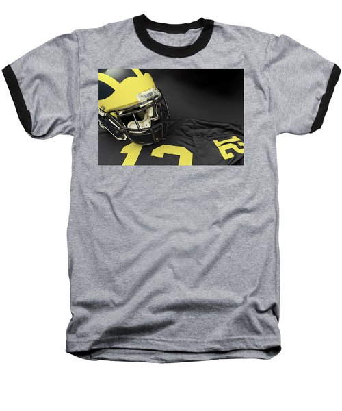 Wolverine Helmet With Jersey Baseball T-Shirt