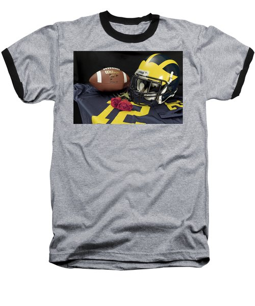 Wolverine Helmet With Roses, Jersey, And Football Baseball T-Shirt