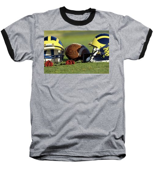 Wolverine Helmets And Roses Baseball T-Shirt