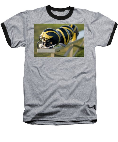 Wolverine Helmets On A Bench Baseball T-Shirt