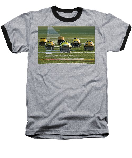 Wolverine Helmets Throughout History On The Field Baseball T-Shirt