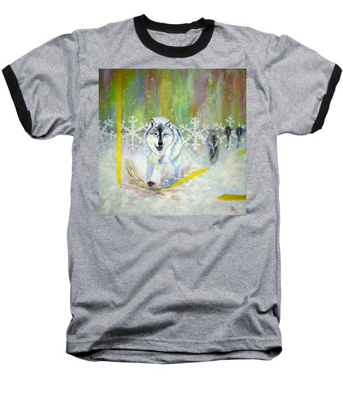 Wolves Approach Baseball T-Shirt