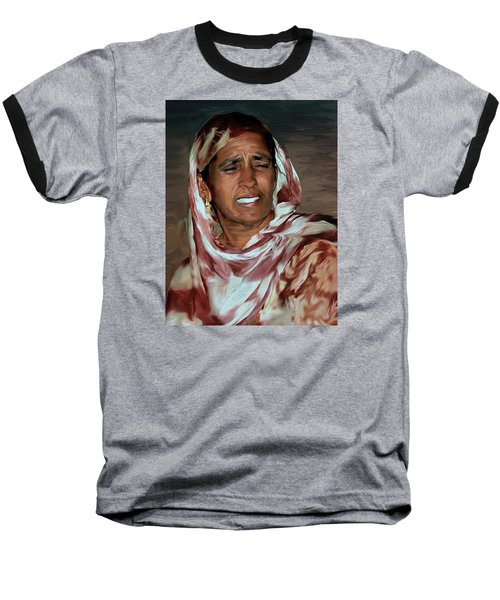 Woman A Struggler Baseball T-Shirt by Manjot Singh Sachdeva
