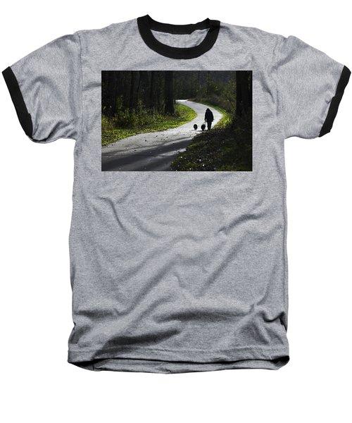 Woman And Border Collies Baseball T-Shirt