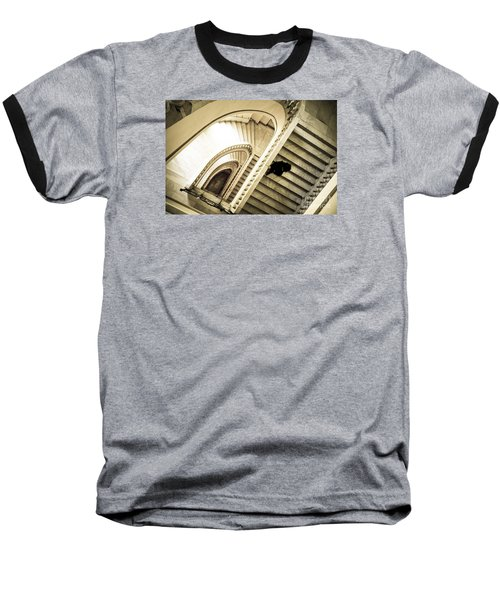 Woman Going Down At Staircase Baseball T-Shirt