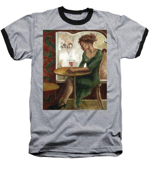 Woman In A Paris Cafe Baseball T-Shirt