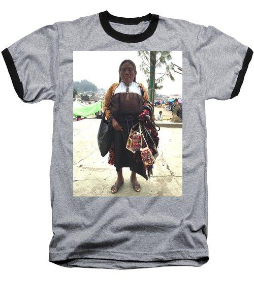 Woman In Chiapas. Baseball T-Shirt