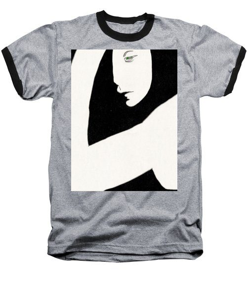 Woman In Shadows Baseball T-Shirt
