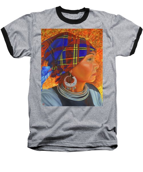 Woman In The Shadow Baseball T-Shirt