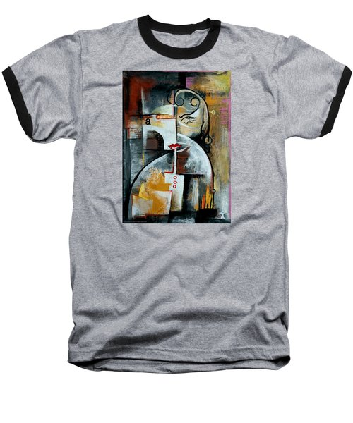 Baseball T-Shirt featuring the painting Woman by Kim Gauge