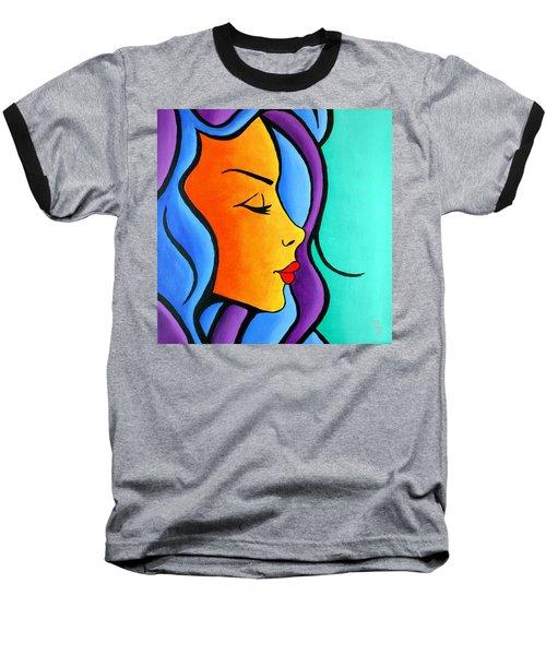 Woman Of Color, Eyes Closed Baseball T-Shirt