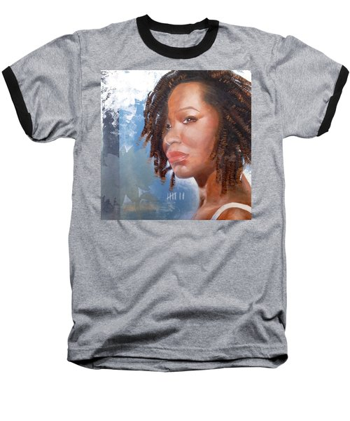 Baseball T-Shirt featuring the painting Woman Of Magdala by Christopher Marion Thomas