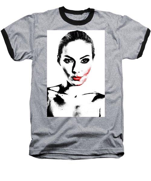 Woman Portrait In Art Look Baseball T-Shirt