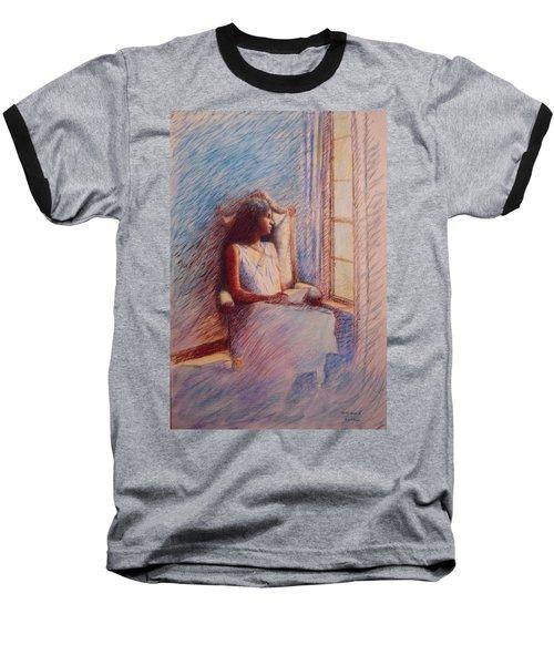 Woman Reading By Window Baseball T-Shirt