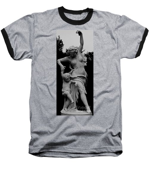 Baseball T-Shirt featuring the painting Woman Statue by Eric  Schiabor