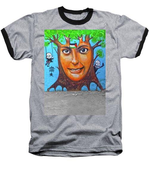 Baseball T-Shirt featuring the photograph Woman Tree by Munir Alawi