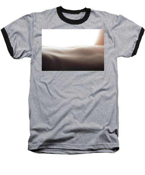 Womans Stomach Baseball T-Shirt