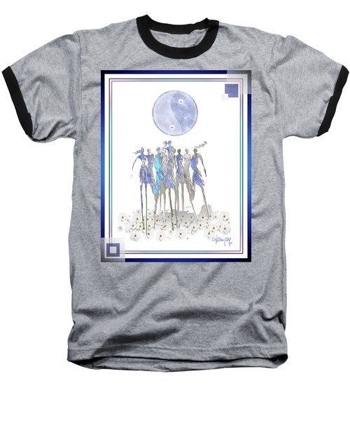 Women Chanting - Full Moon Flower Song Baseball T-Shirt