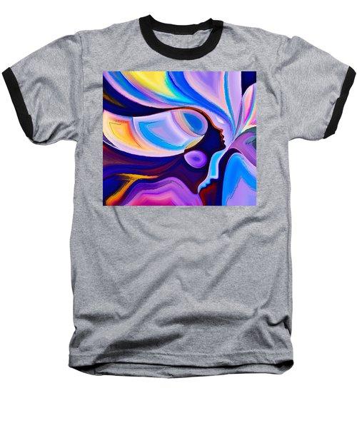 Baseball T-Shirt featuring the digital art Women by Karen Showell