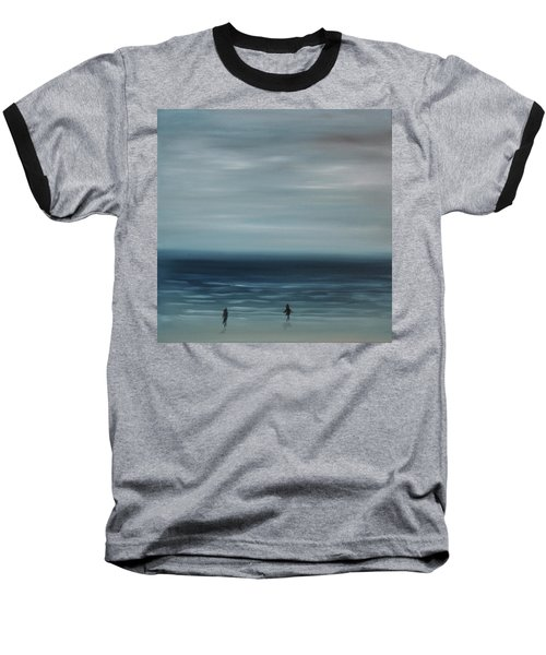 Baseball T-Shirt featuring the painting Women On The Beach by Tone Aanderaa