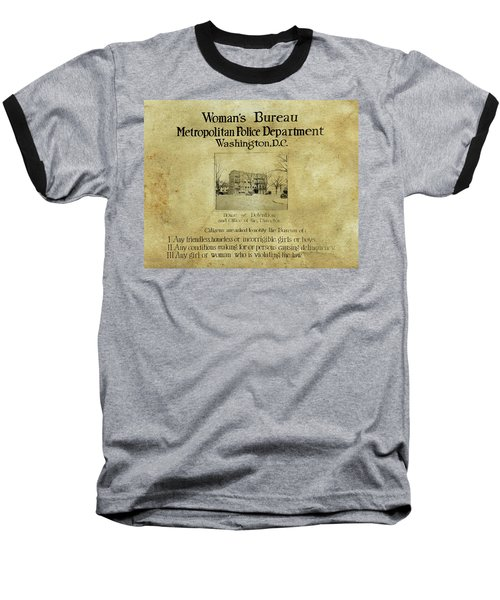 Women's Bureau House Of Detention Poster 1921 Baseball T-Shirt