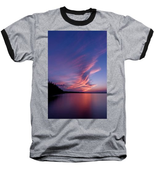 Baseball T-Shirt featuring the photograph Wonderful Skeleton Lake Sunset by Darcy Michaelchuk