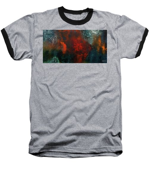 Baseball T-Shirt featuring the painting Wonderland by Carmen Guedez