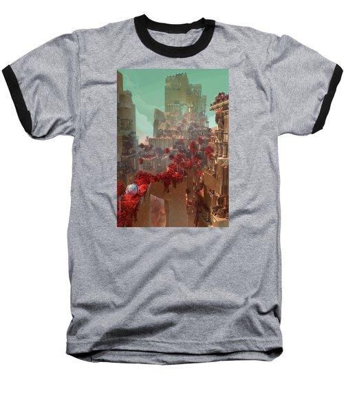 Baseball T-Shirt featuring the digital art Wonders Hanging Garden Of Babylon by Te Hu
