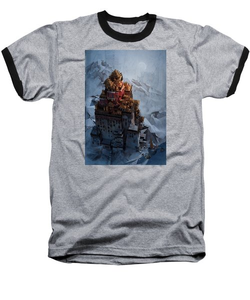 Baseball T-Shirt featuring the digital art Wonders Holy Temple by Te Hu