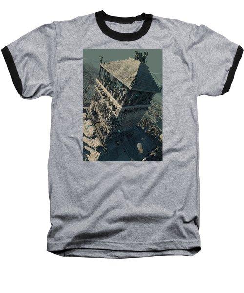 Baseball T-Shirt featuring the digital art wonders Mausoleum at Halicarnassus by Te Hu