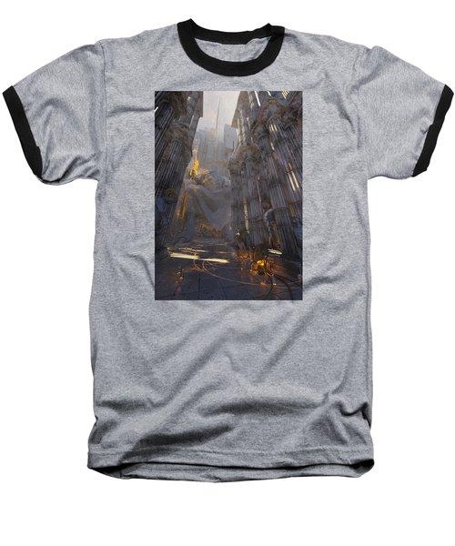 Baseball T-Shirt featuring the digital art Wonders Temple Of Zeus by Te Hu