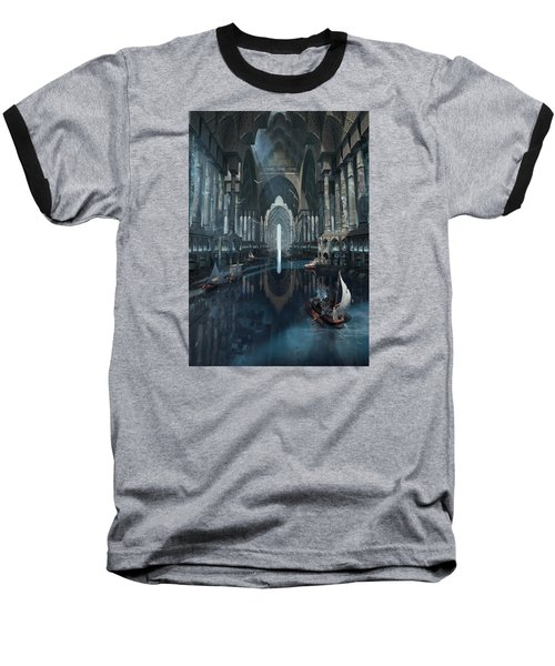 Baseball T-Shirt featuring the digital art Wonders The Canal Of Isfahan by Te Hu