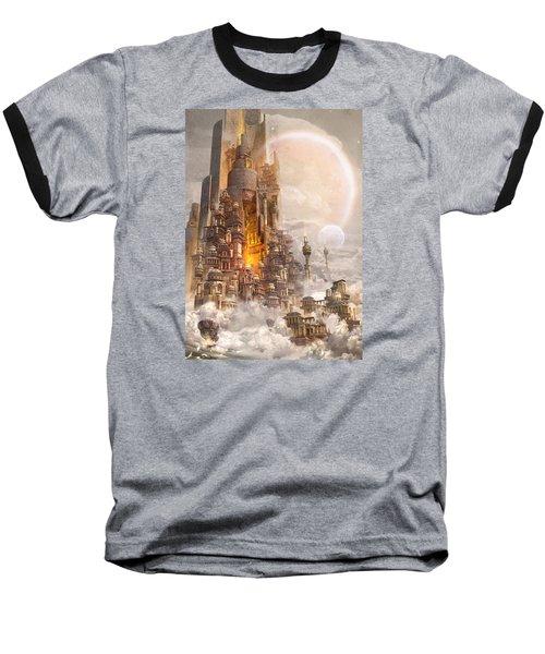 Baseball T-Shirt featuring the digital art Wonders Tower Of Babylon by Te Hu