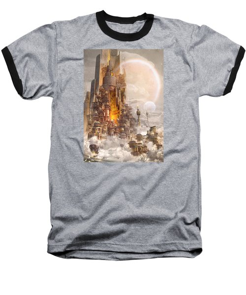 Wonders Tower Of Babylon Baseball T-Shirt