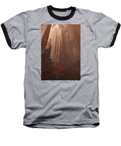 Baseball T-Shirt featuring the digital art Wonders_temple Of Artmeis by Te Hu