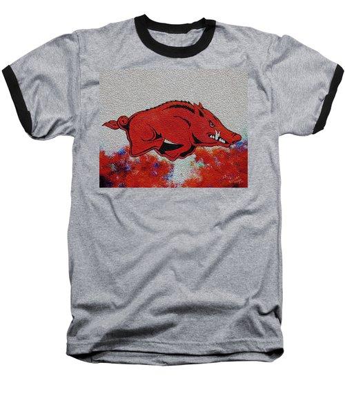 Woo Pig Sooie 2 Baseball T-Shirt by Belinda Nagy