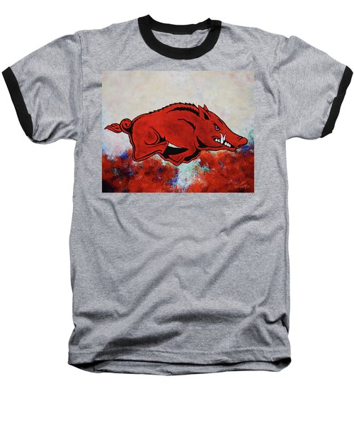 Woo Pig Sooie Baseball T-Shirt by Belinda Nagy