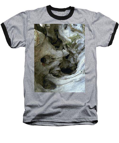 Wood Abstract Baseball T-Shirt