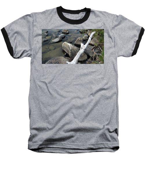 Wood And Rocks In Water Baseball T-Shirt