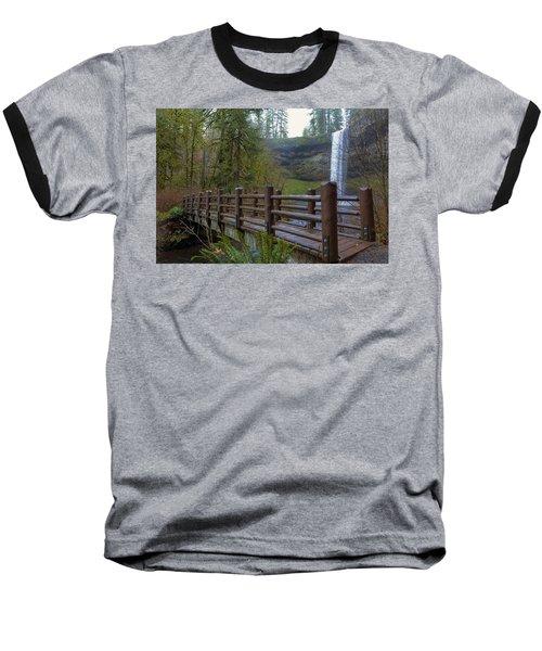 Wood Bridge At Silver Falls State Park Baseball T-Shirt