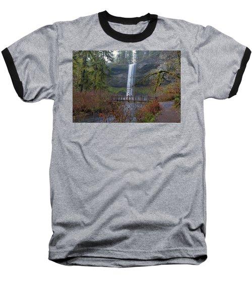 Wood Bridge On Hiking Trail At Silver Falls State Park Baseball T-Shirt