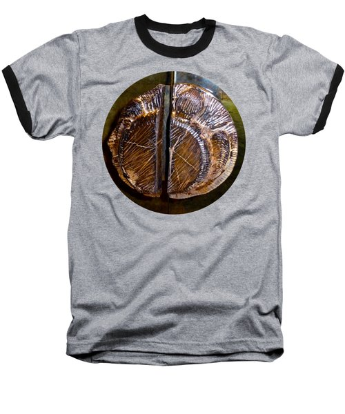 Wood Carved Fossil Baseball T-Shirt