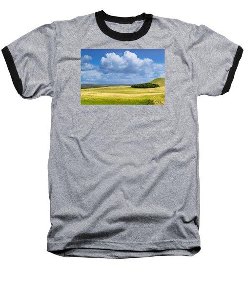 Wood Copse On A Hill Baseball T-Shirt by John Williams