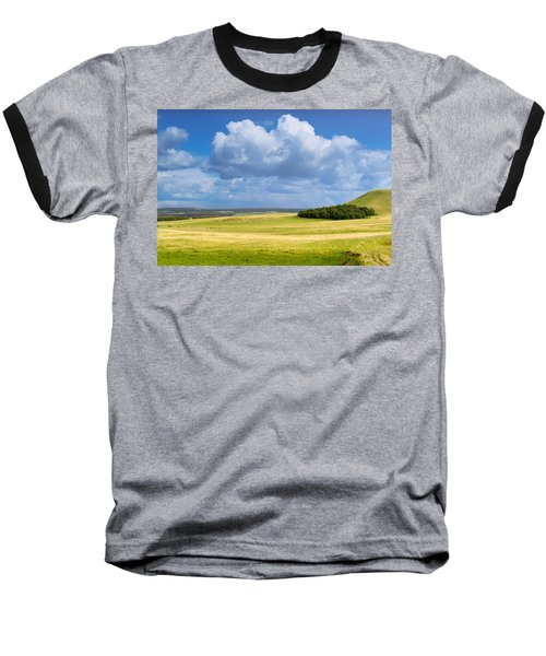 Wood Copse On A Hill Baseball T-Shirt