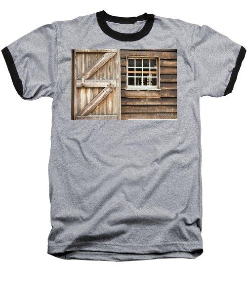 Wood Door And Window Baseball T-Shirt