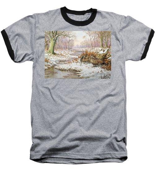 Woodcock Baseball T-Shirt by Carl Donner