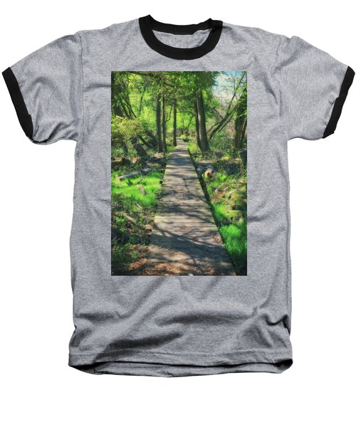 Wooded Path - Spring At Retzer Nature Center Baseball T-Shirt by Jennifer Rondinelli Reilly - Fine Art Photography