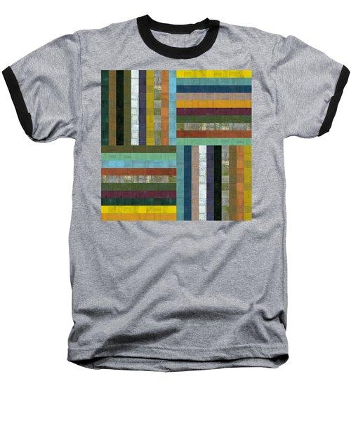 Wooden Abstract V  Baseball T-Shirt